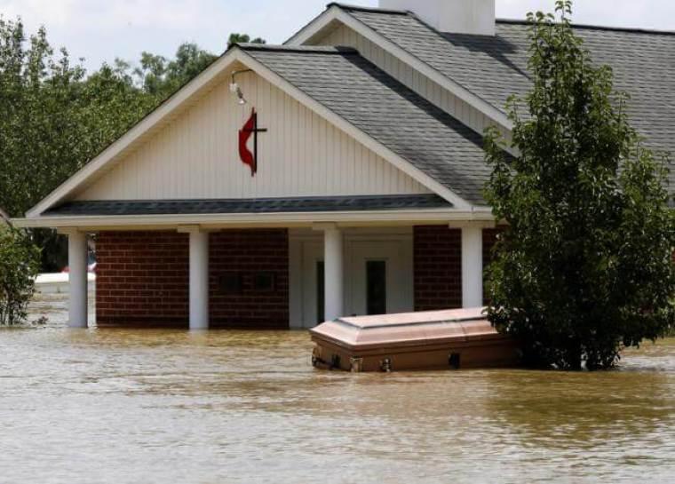 Flooded Church, Louisiana