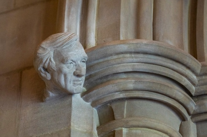 Washington National Cathedral installs stone carving of Holocaust survivor Elie Wiesel