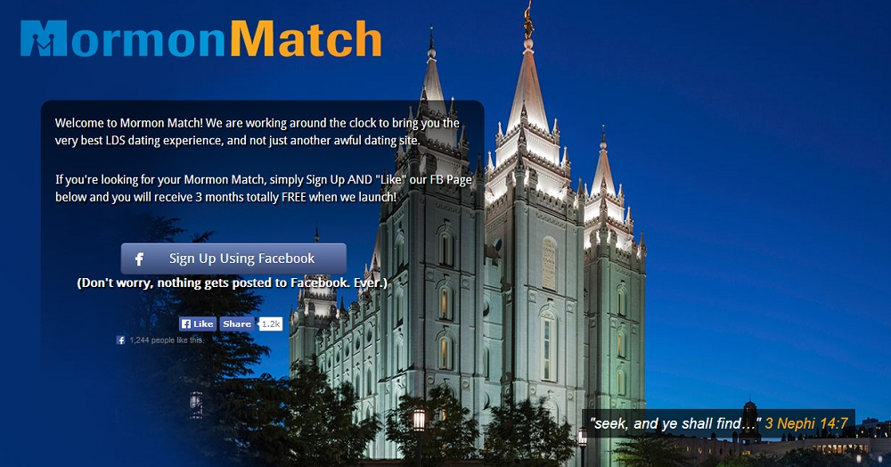 LDS Church Lawyers Unhappy With 'Mormon Match' Online Dating Site