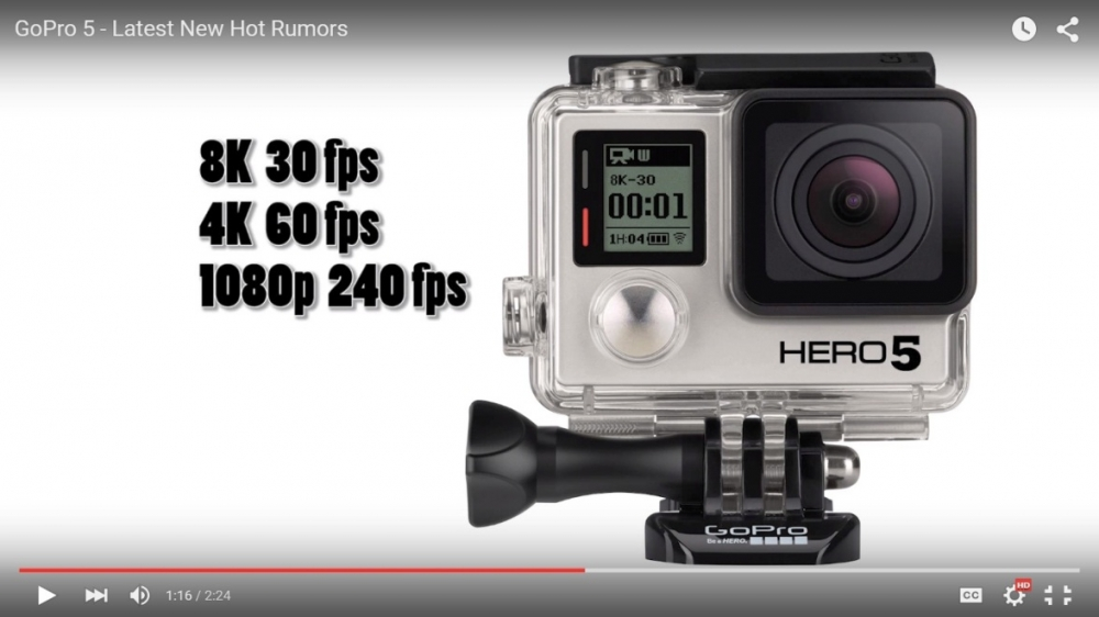 GoPro Hero 5 News: Next Flagship Camera Expected to Have 8K Display