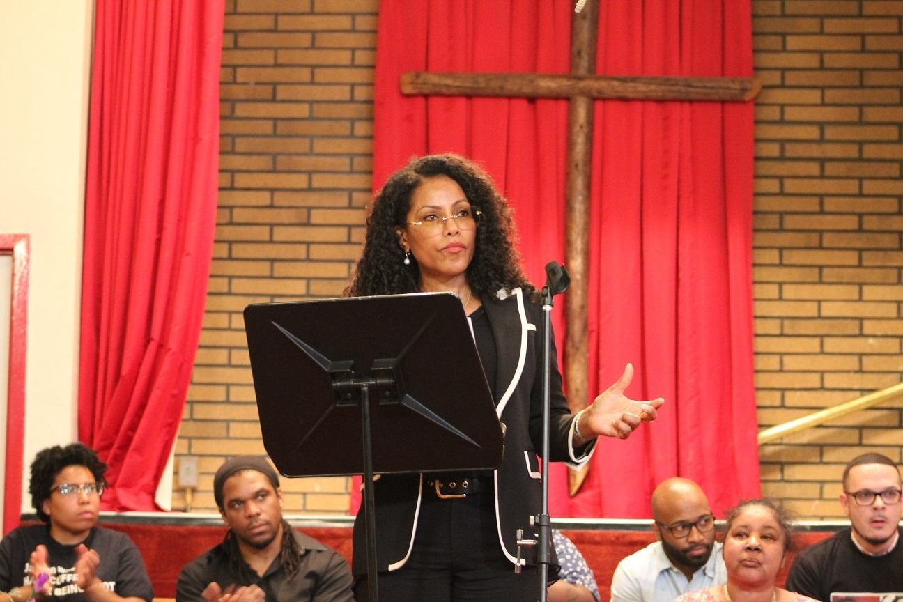 At Harlem church, Malcolm X's daughter cites A$AP Rocky's plight as