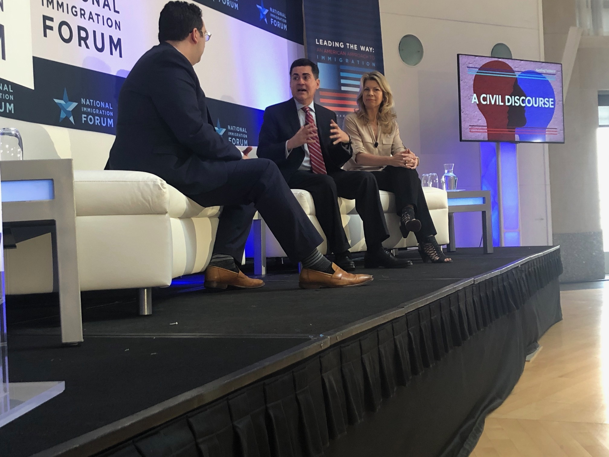 Image result for russell moore, michael wear, national immigration forum
