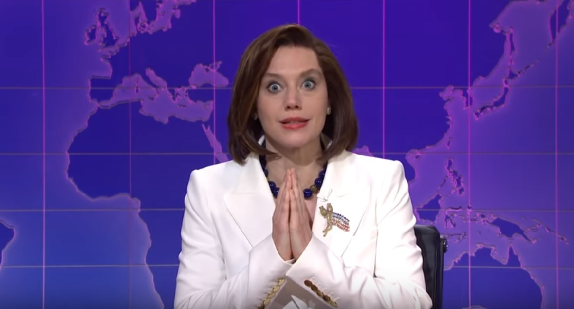 Saturday Night Live shows comedic sketch of impersonated Nancy Pelosi praying for Trump