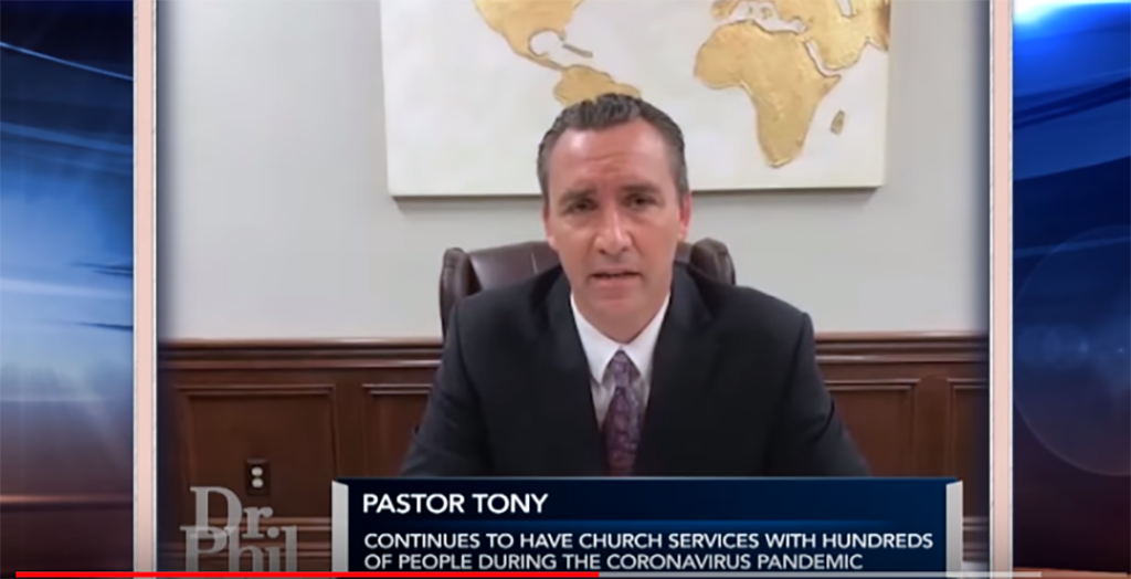 Pastors says parishioners were suspended from jobs without pay for going to church