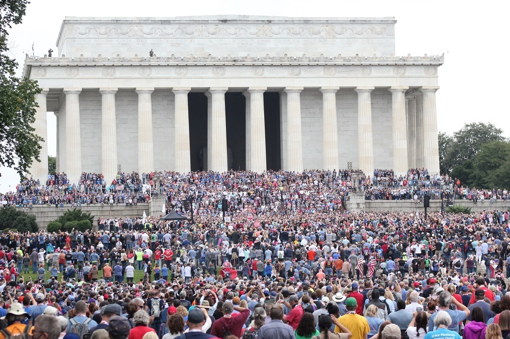 Prayer Rally at Lincoln Memorial