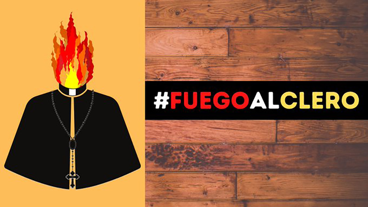 Twitter allows pro-Marxist burn priests alive hashtag to trend in Spain