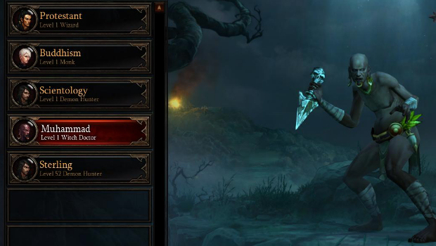 Diablo 3: Christian, Jew, Gay Banned as Player Names From