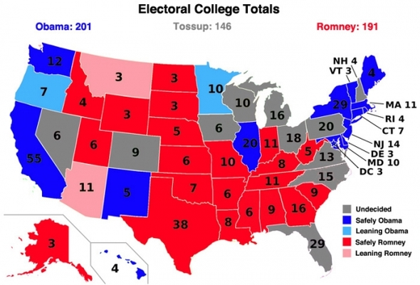 Electoral College Map: Latest Polls Indicate Swing States ...